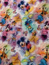 100% Cotton Woven Custom Fabric Disney Mickey & Friends In Stock Now Per Yard!