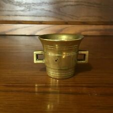 Vintage Heavy Brass Mortar Only NO PESTLE 2 Inches Tall