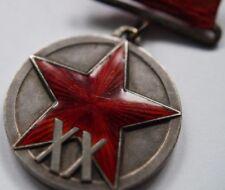 Soviet Russian Order Medal -Original  XX years RKKA - Type 1   Very Very  Rare !