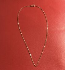 18ct 18K Stamped 750 Solid Gold Cable Link Chain Necklace 40cm