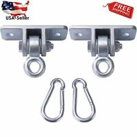 2x 500LB Strong Hooks Heavy Duty Iron Swivel Swing Playground Hanger Set 1 Pair