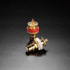 Furutech FP-900(G) Cinch Einbaubuchse RCA Socket Gold Cinch 1 Paar (2 Stück)