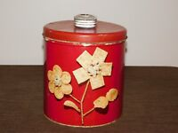 "VINTAGE KITCHEN 8"" HIGH KRISPY KAN CRACKERS CHIPS ETC ABSORBS MOISTURE METAL CAN"