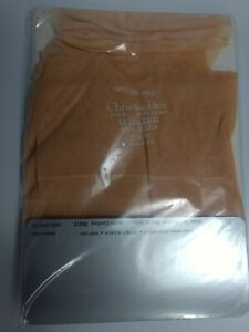 2 pair pack Christian Dior Peach Nylon Stockings size 8.5 - 10.5 new Vintage Old