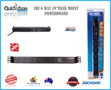 "Rack Mount Power Board 6 Way Outlet 19"" 1RU Strip Rail Surge Protection Jackson"