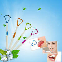 Tongue scraper oral dental care plastic tongue cleaner brush tool for SU