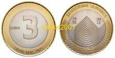 """3 EURO SLOVENIA 2011 BIMETALLICO """"Indipendenza"""""""