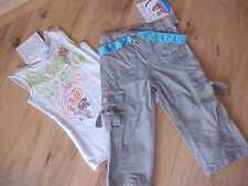 NWT MARYKATE & ASHLEY EMBROIDERED TANK W/ CAMOPHLAGE CAPRI'S 4-5