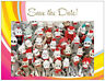 20 Save the Date MONKEYS  Made of SOCKS FAMILY REUNION  Post CARDS Postcards