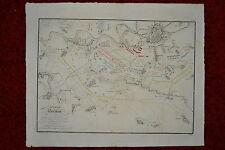 Bataille de Breslau en Silesie 1757 Grosse historische Karte Morgenau Zweibrod