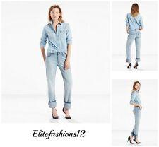 """Levi's Womans 501 Boyfriend Jeans """" Foamy Blue """" Size 32 x 32 Style # 125010217"""