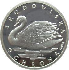 Polen 1000 Zloty 1984, Höckerschwan, Probe, Proba, Silber, PP, selten