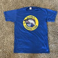 Vintage 1987 Alaska Fishing Club Jerzees T-Shirt Men's Size Large