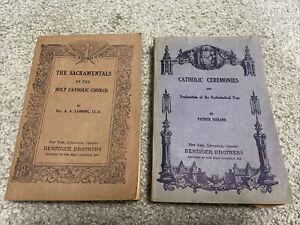 Lot Catholic Ceremonies Sacramentals Books 1892 Benziger Brothers Rare Antique