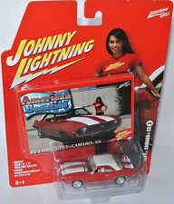 American Beauties - 1969 CHEVY CAMARO SS - red/white - 1:64 Johnny Lightning