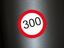1 x Aufkleber 300 km/h Tempolimit 85 mm Autobahn Raser Auto Tuning Sticker Fun