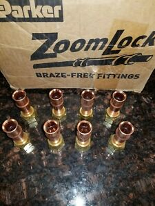 "Parker Zoomlock Copper PZK-F10-HNBR 5/8"" female flare sae Box Of 8"