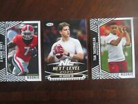 2020 Sage Hit Football Cards 3 Card Rookie Tua Joe Burrows D'Andre Swift