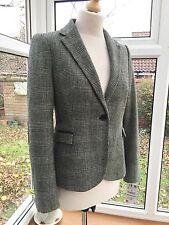 Zara Ladies Check Wool Blend Blazer Jacket Size M UK 10 BNWT
