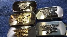 Navy Seal team Belt Buckle Set Rare USA Made.