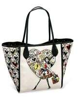 BRIGHTONS LOVE HEART SCRIBBLE GRAFFITI STACI G FASHIONISTA TOTE HANDBAG MRP$320