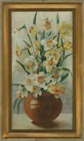 Framed Mid 20th Century Watercolour - Daffodils