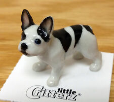 ➸ LITTLE CRITTERZ Dog Miniature Figurine French Bulldog Maximus