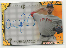 Anthony Ranaudo 2015 Topps Tribute Auto Card Autograph Red Sox Gold /25