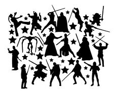 Die Cut Outs Silhouette Starwars shapes, card making, scrapbook Fairy jar topper
