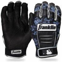 NEW Original Franklin MLB CFX PRO ADULT Baseball  BATTING Gloves CAMO BLACK