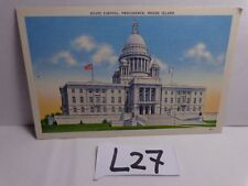 VINTAGE UNPOSTED POSTCARD LINEN PROVIDENCE RHODE ISLAND STATE CAPITAL BUILDING