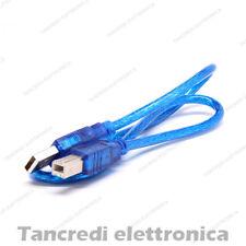 Cavetto Cavo 50 cm Dati USB 2.0 A - B maschio Printer Stampante Arduino 0.5mt