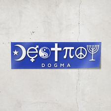 Destroy Dogma Bumper Sticker (Blue) Sarcastic Atheist Humanist Coexist Stickers