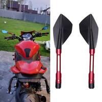 Motorcycle Red Rearview Side Mirrors 8/10MM For Honda Suzuki Kawasaki Yamaha