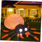 12 Ft Long Halloween Inflatables Spider Decorations, Bulti-in Orange LED