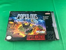 POPULOUS Super Nintendo SNES (BOX ONLY) No Game