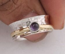 Amethyst Ring 925 Sterling Silver Ring Spinner Ring Meditation Ring Jewelry r50
