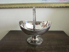 Antique American Sterling 925 W. Gale & Son Greek Key Designed Sugar Basket