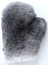 Pelz Handschuh Wellness Massage Kanin Natur Fell Chinchillakanin Grau Schwarz