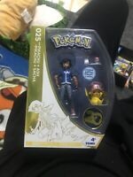 Ash And Pikachu Pokemon Figure set 2016 Limited Edition 20th anniversary TOMY