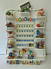 M&M Danbury Mint Perpetual Calendar with 12 Holiday Figurines and Tiles