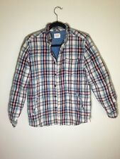 Vanishing Elephant Light Linen Plaid Jacket Men's Medium