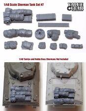 1/48 Allied Sherman Tank Set #7 (fits all 1/48 Tanks) - ValueGearResinStowage