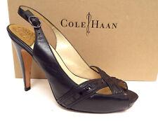 COLE HAAN Size 9.5 Black N. Air Open Toe Heels Pumps Shoes 9 1/2