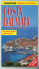 COSTA DALMATA DE AGOSTINI  1995  MARCO POLO GUIDE CROAZIA DALMAZIA