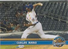 2017 Midland RockHounds Carlos Navas RC Rookie Oakland Athletics VZ