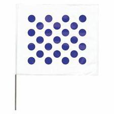 Zoro Select 4530Wb20204-200 Marking Flag,Blue Dots/White,Vinyl,Pk100
