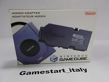 MODEM ADAPTER - NINTENDO GAMECUBE - ORIGINAL OFFICIAL NINTENDO NUOVO NEW