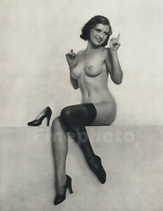1928 Vintage WILLIAM MORTENSEN Surreal Female Nude CINDERELLA Shoe Photo Gravure