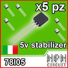 5x L78l05 stabilizzatore di tensione 5v LM 78L05 TO92